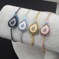 evil eye micro pave bracelet beads wholesale jewelry manufacturer