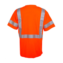 ANSI Class 2 Short Sleeve Snag Resistant Reflective T-Shirt,reflective safety long sleeve t-shirt custom made