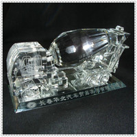 OEM Engraved Crystal Cementing Truck For Company Gifts