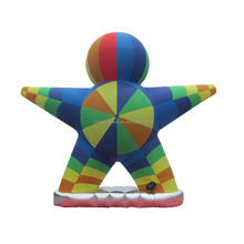 Factory direct giant inflatable rainbow cartoon model in kindergarten