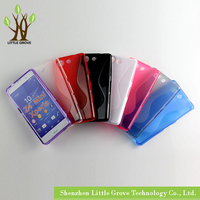High quality For Sony Xperia Z4 Compact Z4 Mini Soft TPU Gel S line Skin Cover Case Free Shipping