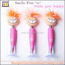 super novelty desk table ballpoint pen with doll baby smile faces customized and special material made
