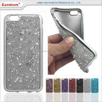 tpu electroplating mobile phone diamond back case for gionee p2 s6 pioneer p5w