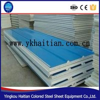 High Density polyurethane foam sandwich panel, Cheap price Excellent insulation EPS sandwich panel