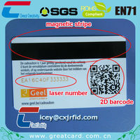 Plastic magnetic stripe cards for membership