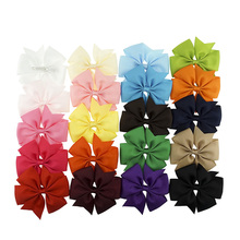 "<strong>Hair</strong> clip 3"" Grosgrain Ribbon 20 Colors Boutique Bows With Clip Hairpins For Kids Girl <strong>Hair</strong> <strong>Accessories</strong> 2016 baby headband"
