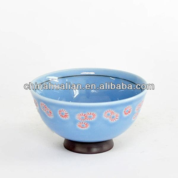 "4.25"" * 2.5"" Delicate porcelain bowl with hand painted flowers on outside"