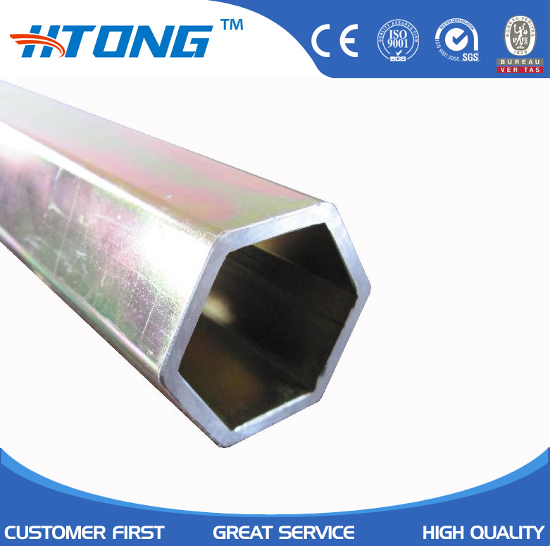 2mm thickness small diameter 304L hollow hexagonal stainless steel pipe