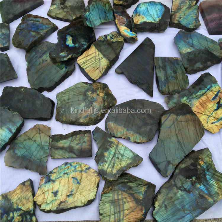 Labradorite Stone Slab Crystal Slices