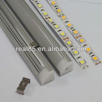 aluminum extrusion profile, frosted/Clear cover, end caps, suitbale for 10~12MM width LED strips, Shenzhen Factory