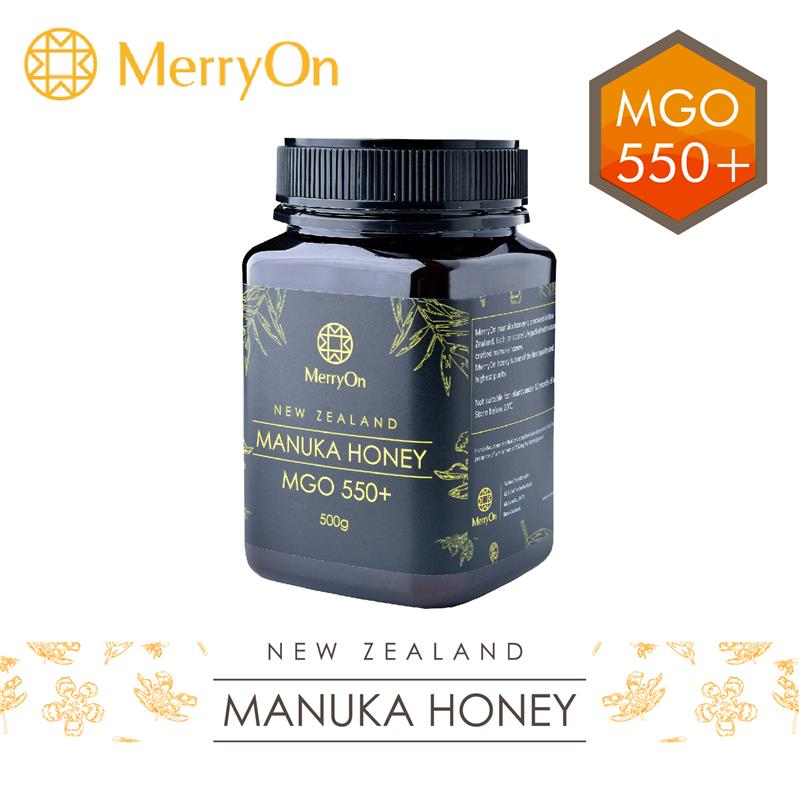 MerryOn 100% NZ MGO 550+ Manuka 500g natural artificial chinese date honey