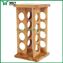 Saving space bamboo sprice rack, big capacity decorative spice rack