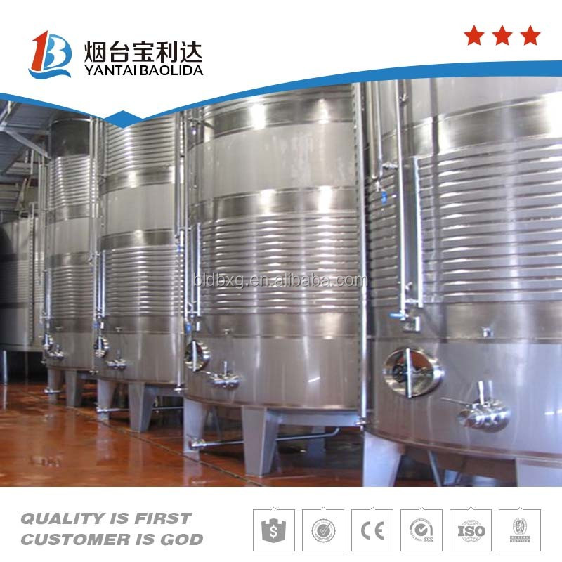 Vertical stainless steel water storage tank