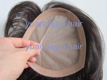 "factory wholesale 6a quality 6"" #1b silky straight virgin peruvian full silk top toupee for men"