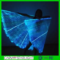 Luminous fiber optical led fashion party light up fairy wings
