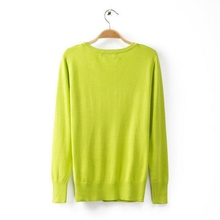 Good quality latest v neck lady mohair sweater