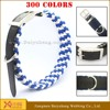 dog leather collars and running leashes with lock
