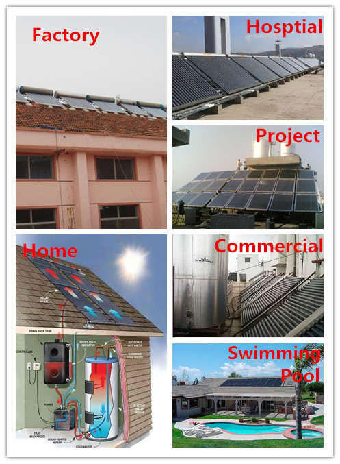 Rooftop Flat Plate Solar Collector with CE for commercial/Solar Panel