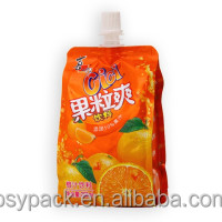 PLASTIC KETCHUP/TOMATO Orange juice SAUCE PACKING BAGS WITH SPOUT