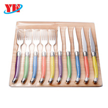 High quality laguiole steak knives and forks with ABS handle