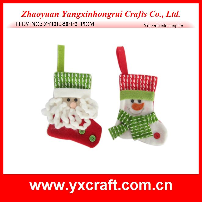 Christmas sock (ZY13L350-1-2 19CM) christmas gift ornament gift sock container