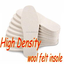 thicken high density extrusion wool felt foot insole