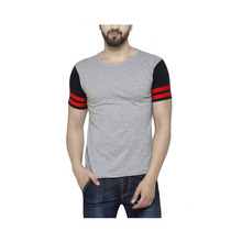 Blank Sport New Pattern Men Muscle Fit Round Neck Cotton T-Shirts