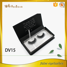 Private label 3D faux mink eyelashes with box logo design