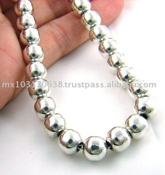 Classic Sterling 925 Silver Ball Bead Necklace