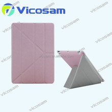 PU leather Protective Cover Case for ipad air 2, for ipad air case pink, for ipad case 9.7 inch