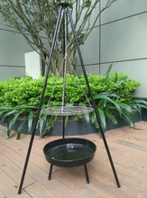 Portable Hanging Tripod Charcoal BBQ Grills Easily Assembled and Cleaned for Outdoor Cooking