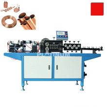 Coil copper/ finned tube/titanium pipe Straightening &chipless Cutting Machine for heat exchanger and refrigeration