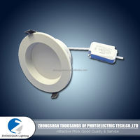 Favorable quality 10W 50lm/w PC milky cover waterproof led downlight