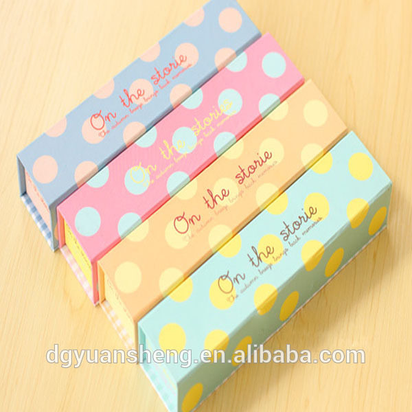 The most popular fancy paper pencil box cheap hard pencil case