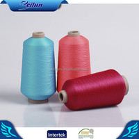 Eco-friendly bulk and colored polyester yarn for socks from polyester materials suppliers