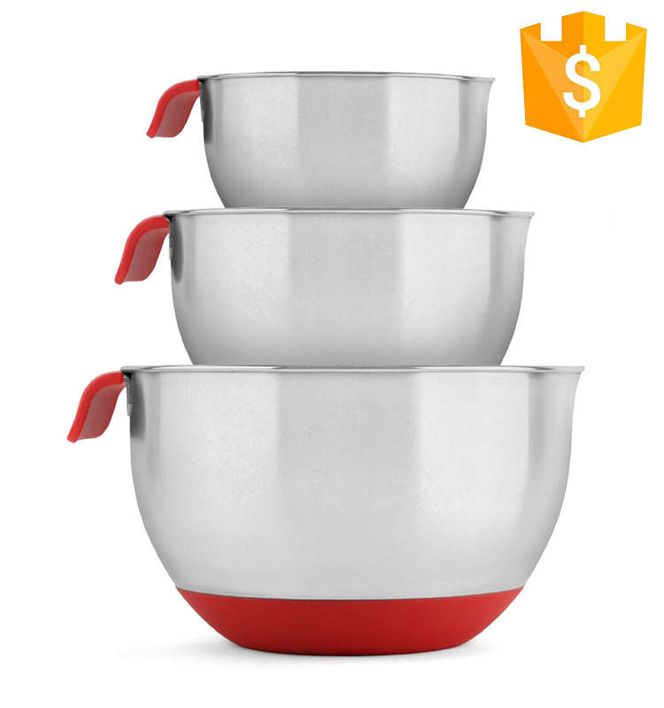 China Factory Supplier Cheap FDA stainless steel mixing bowl with handle