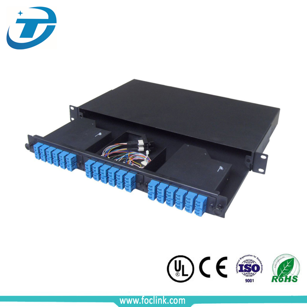 12 core 1U SC/FC/ST/LC rack mount Splicing fiber Optic patch panel/Termination Box/ODF