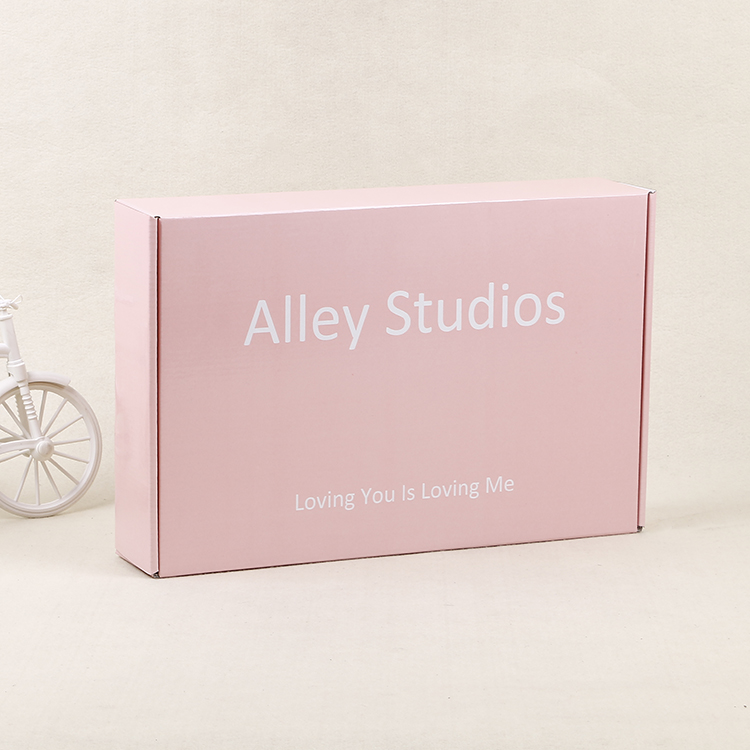2020 Custom Square Paper Packaging Box Mailer Box Pink Gift Boxes With Lid