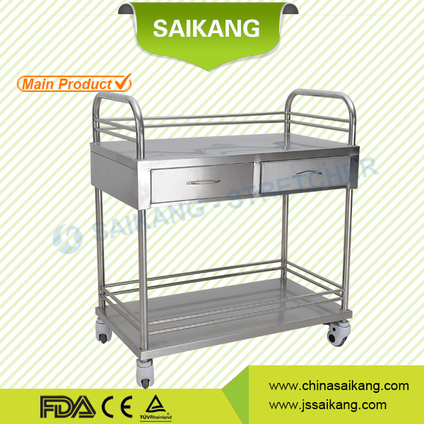 China Online Shopping Economic Medical Hospital Trolley With Drawers