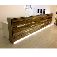 2017 Customized trendy office reception wooden counter for sale