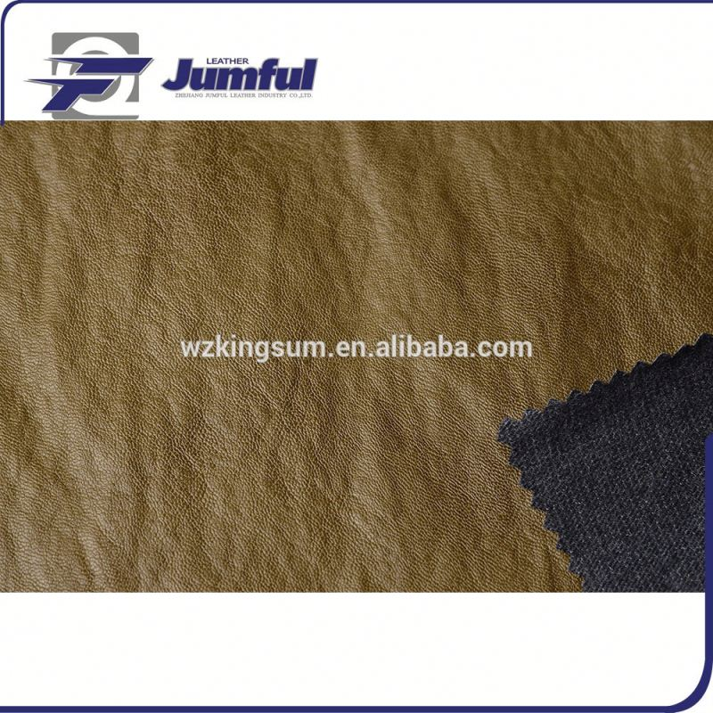2016 New Pu Coated Cow Split Leather