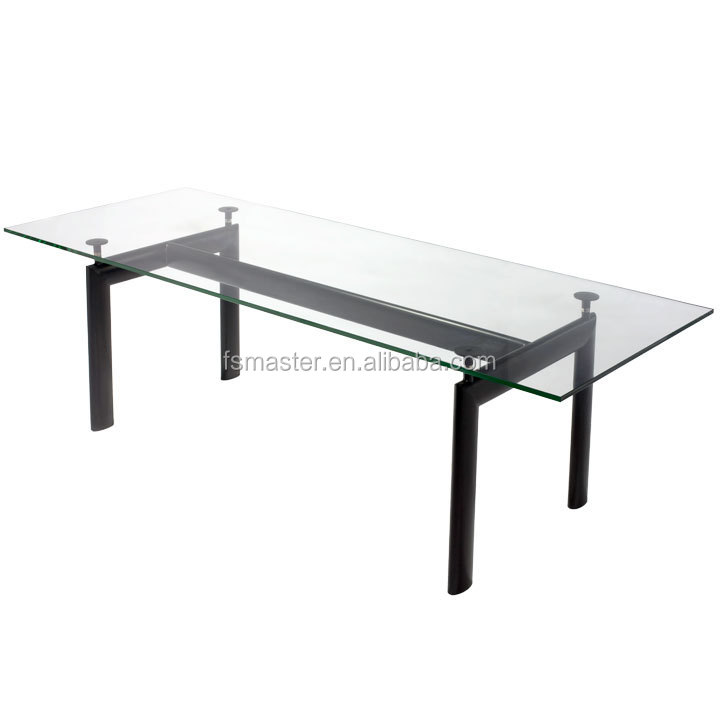 family use metal LC6 Glass Dining Table