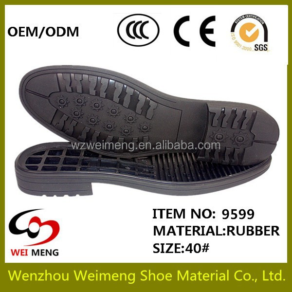 wenzhou sole factory cross pattern oil resistant welt combination rubber outsole for shoes