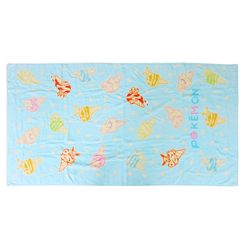 Super soft custom made 100% cotton velour reactive printed icecream bath towel