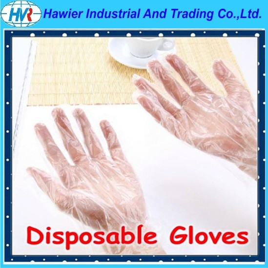 Sample free disposable PE gloves from Hawier