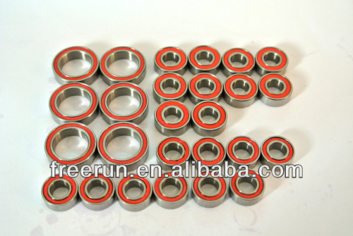 High Performance TEAM ASSOCIATED RC10 ORIGINAL GOLDEN PAN steel bearing kits with different rubber seal color