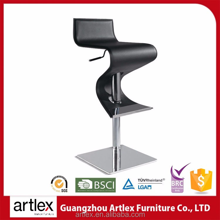 China High Quality Modern Swivel Leather Sample Environment-Friendly Counter High Chair For Bar Leather Stool Bar Chair