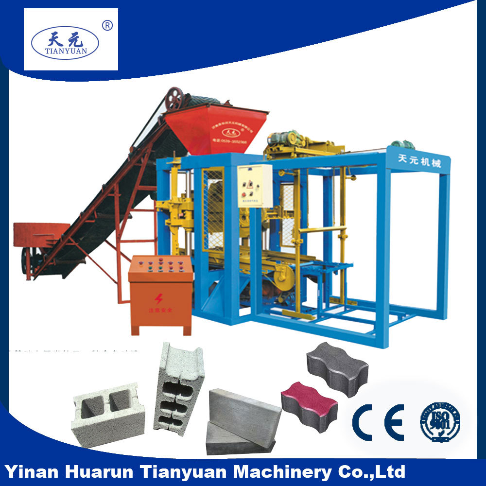 QTJ4-26C full automatic hydraulic clay brick making machine red soil eco brava earth compressed earth
