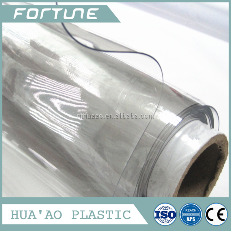 blue shade pvc film thickness 0.30mm super clear plastic in rolls or sheet