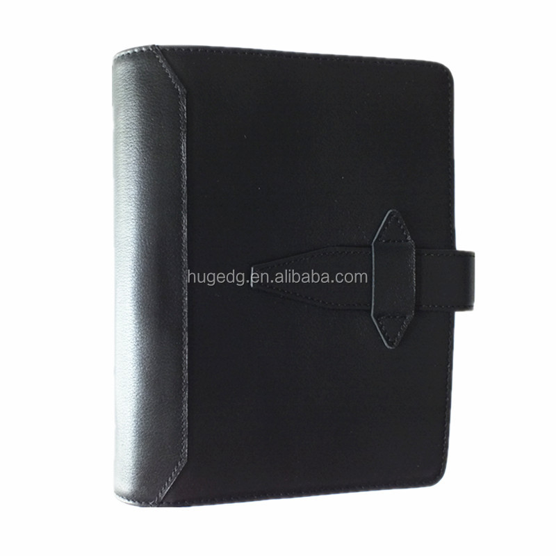 Thick big portfolios organizer agenda cover with ring binders